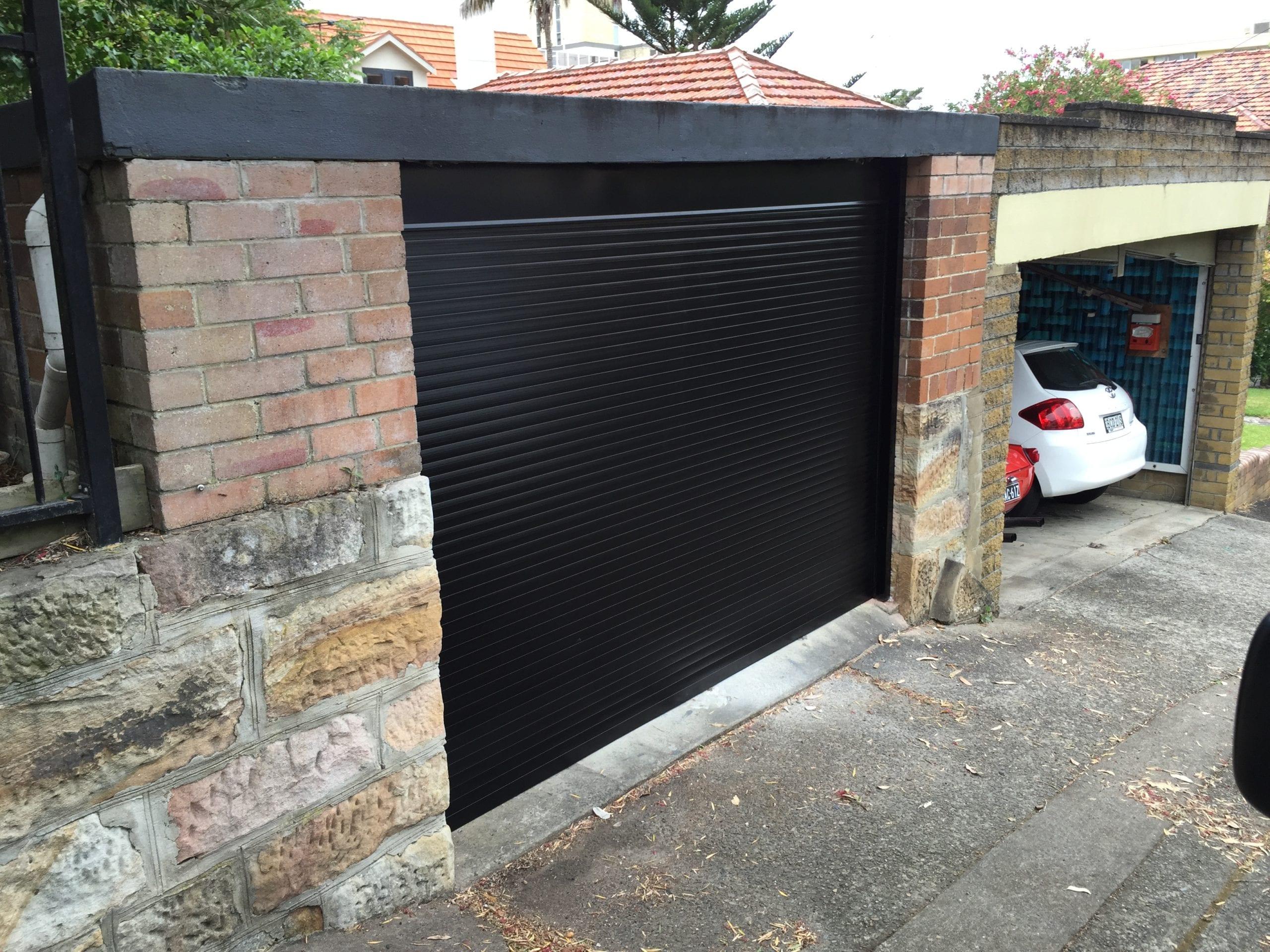 black roller garage door sydney gold coast