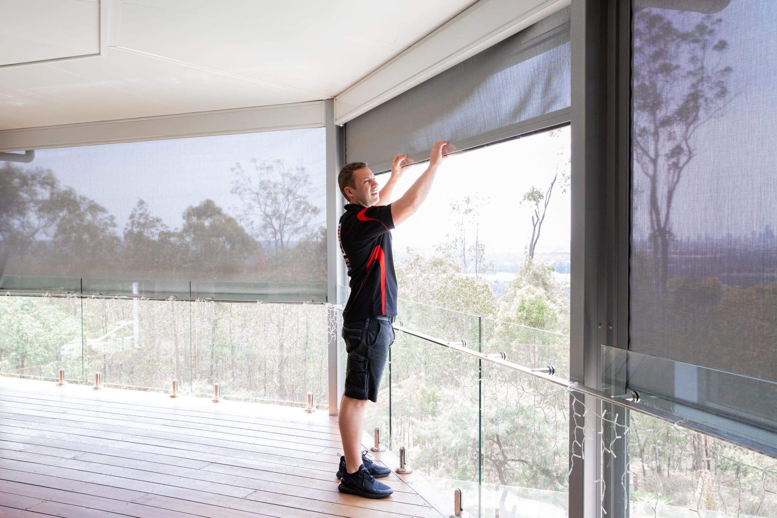 Adshutters sliding panel blinds sydney gold Coast
