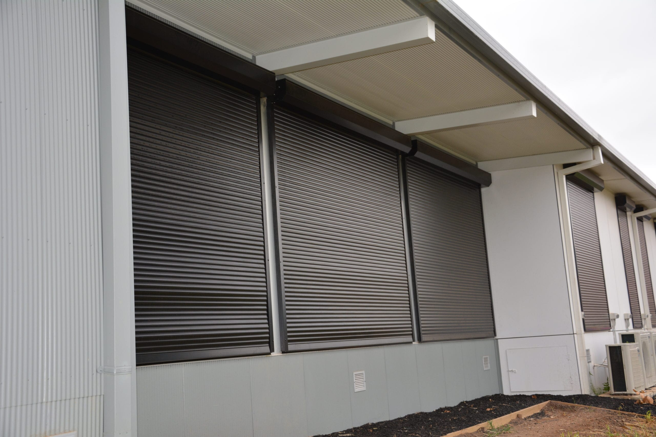 black security roller shutters