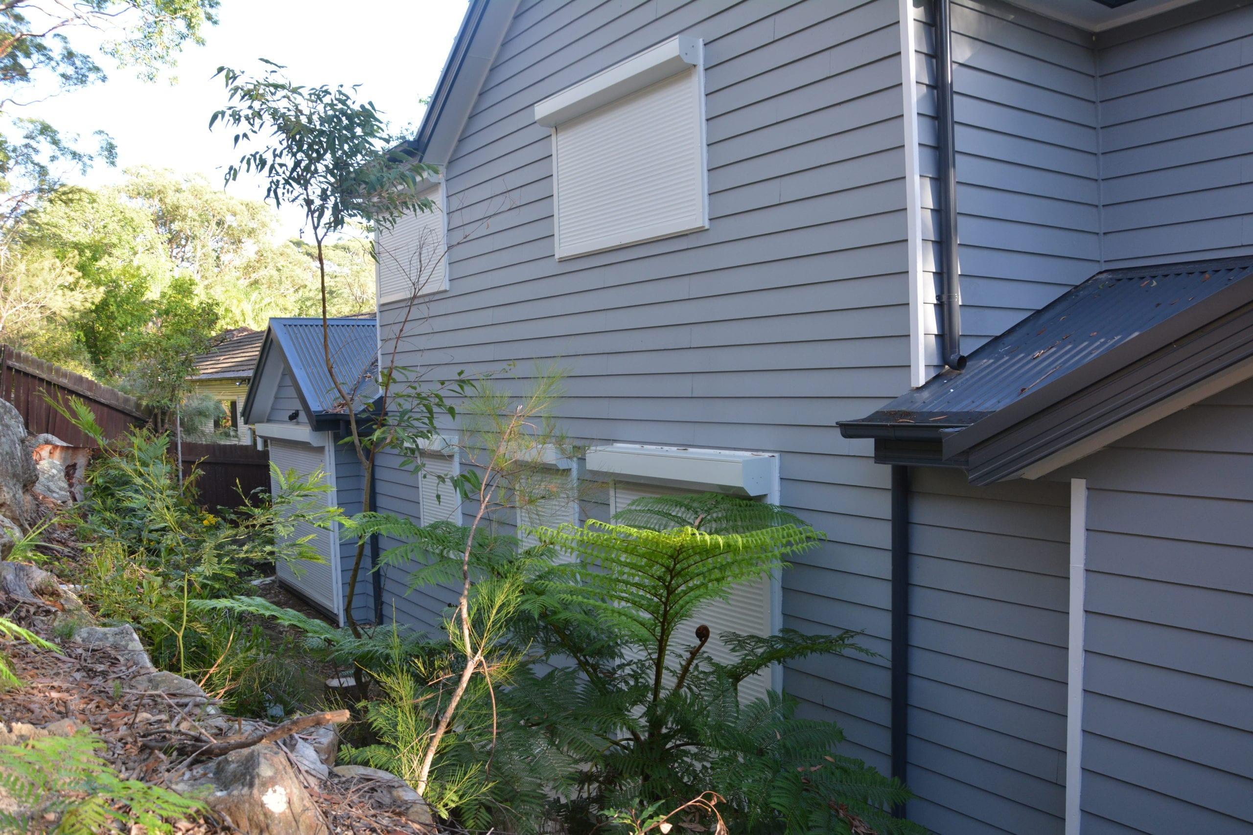 White Outdoor Window Roller Shutters Sydney Gold Coast
