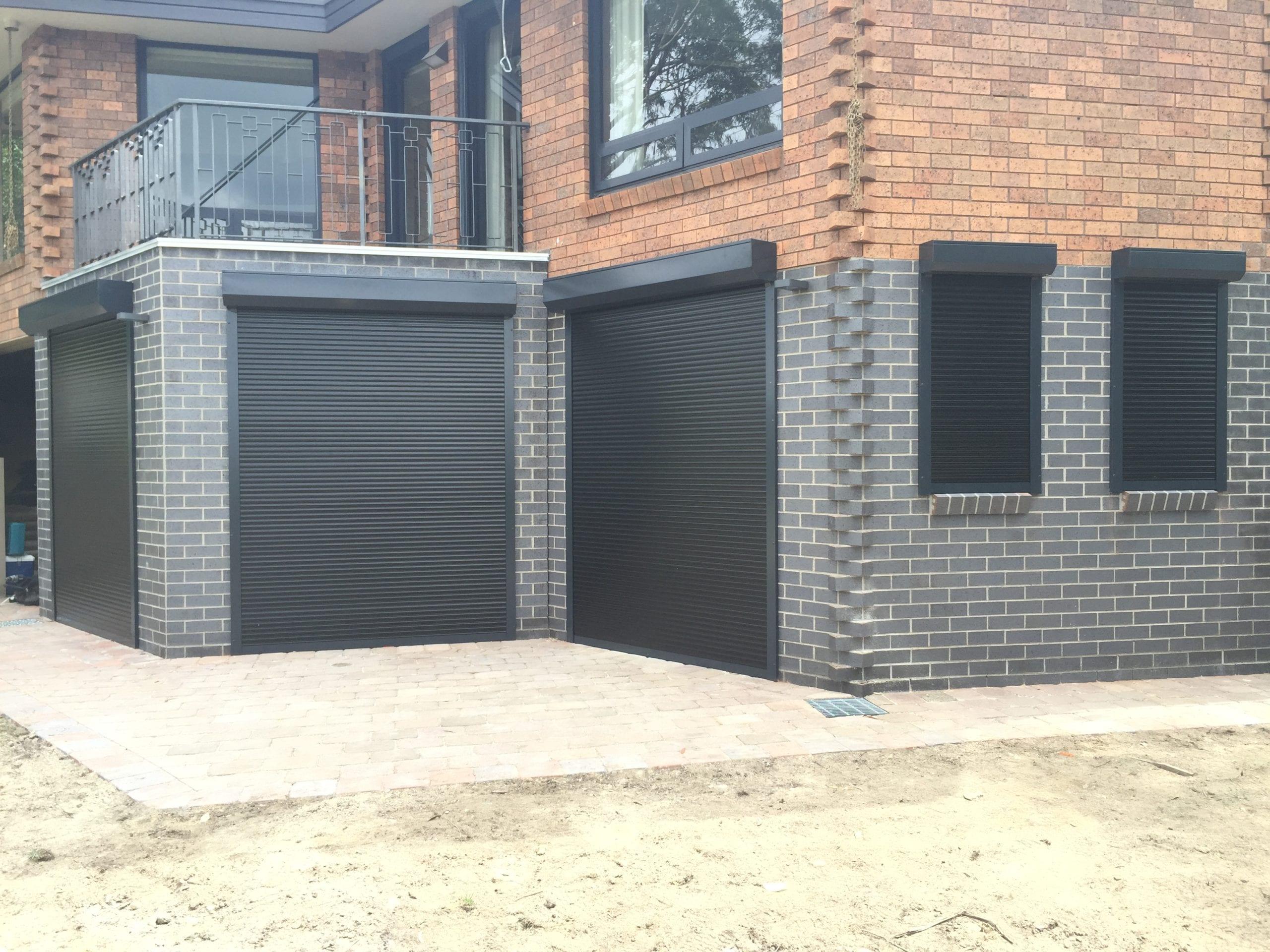 Black Domestic Roller Shutters Sydney Gold Coast